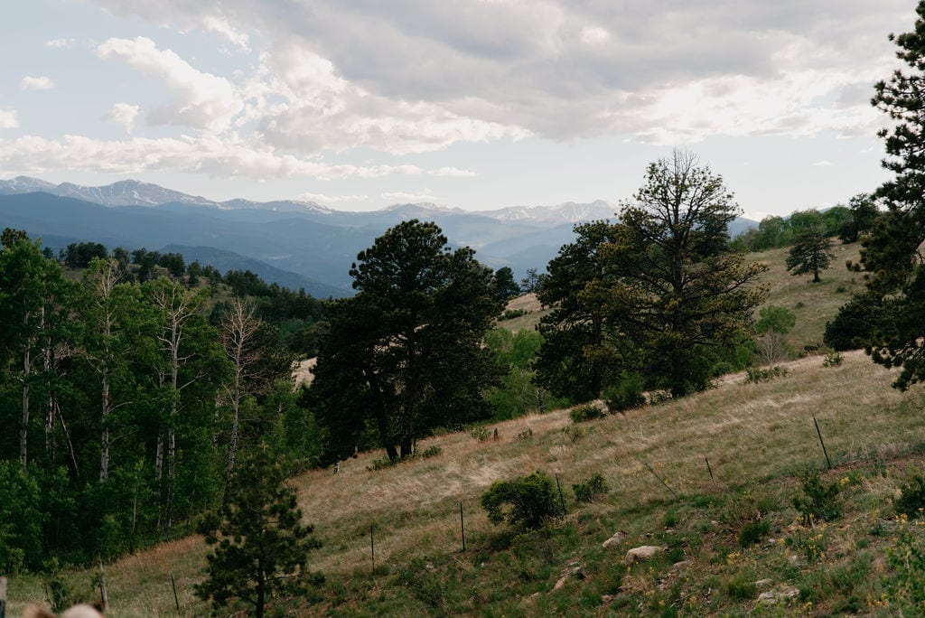 mountain Views from Colorado elopement location