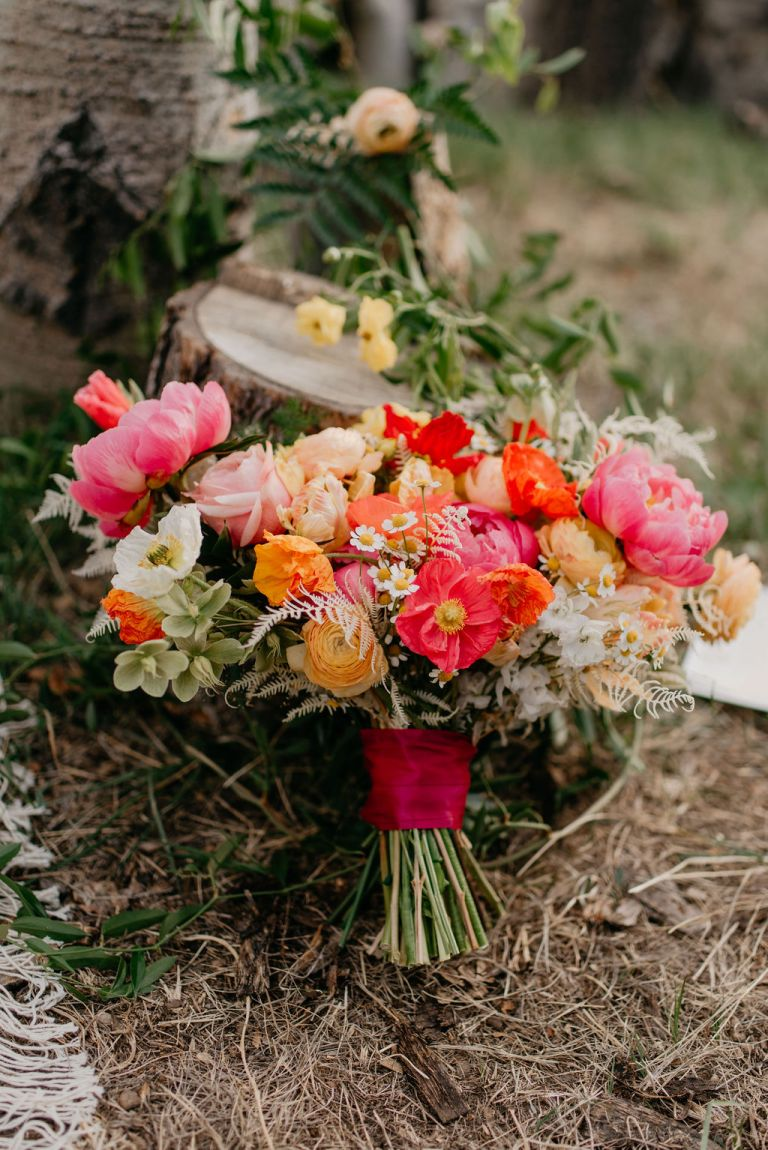 Beautiful wedding florals by the painted primrose