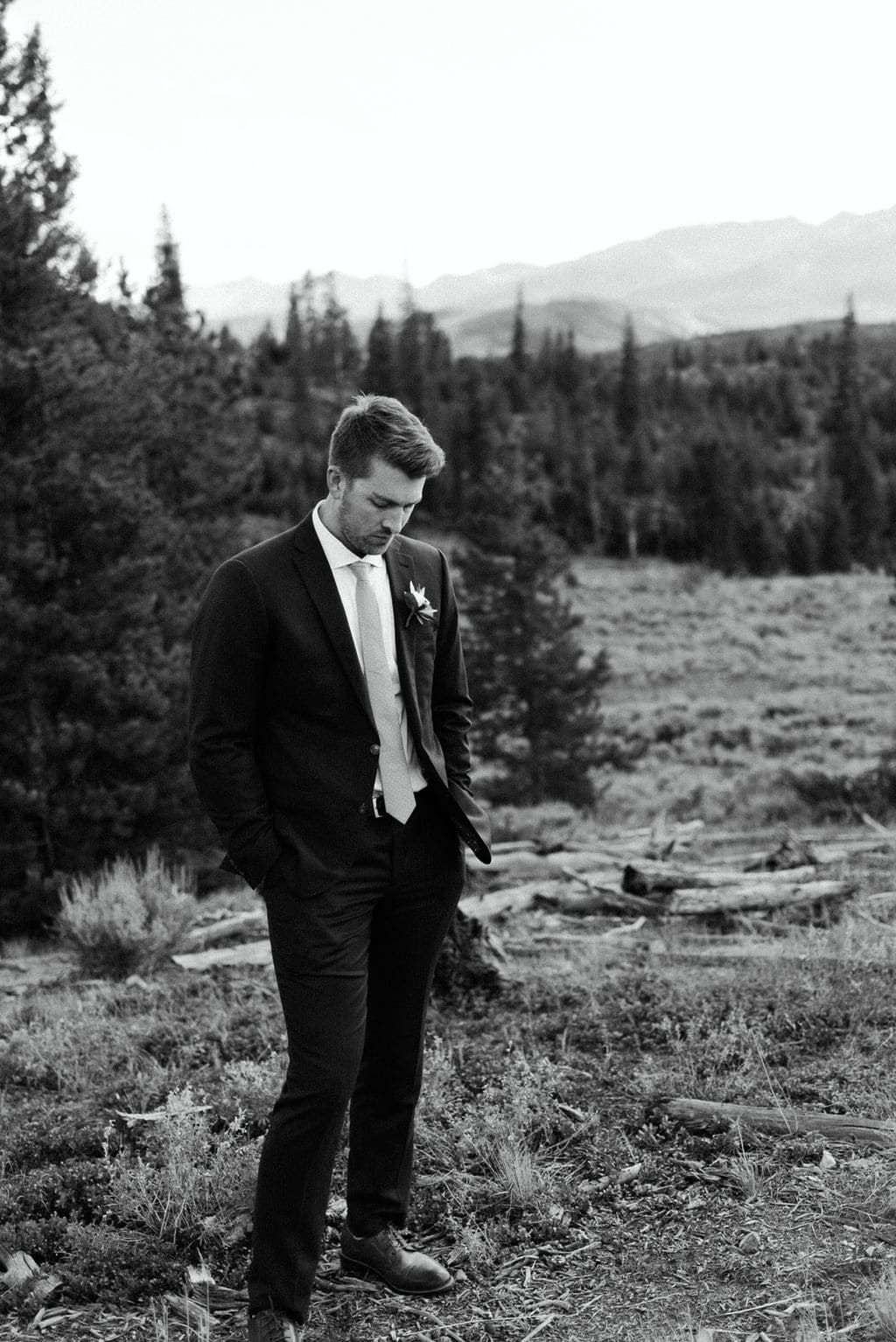 Groom Portraits at Lake Dillon
