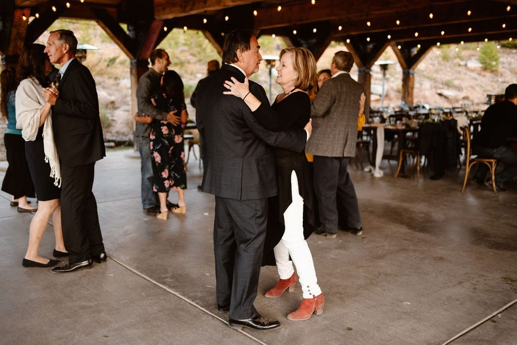 Dancing at Windy Point Campground Wedding Reception