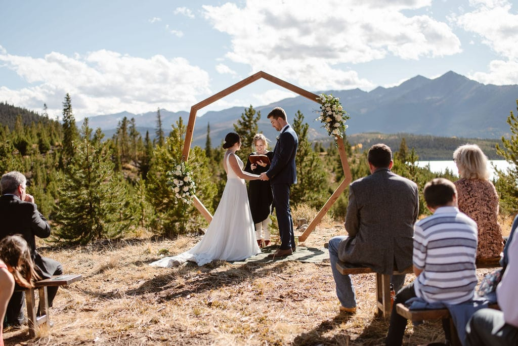windy point campground wedding ceremony in Dillon, Colorado