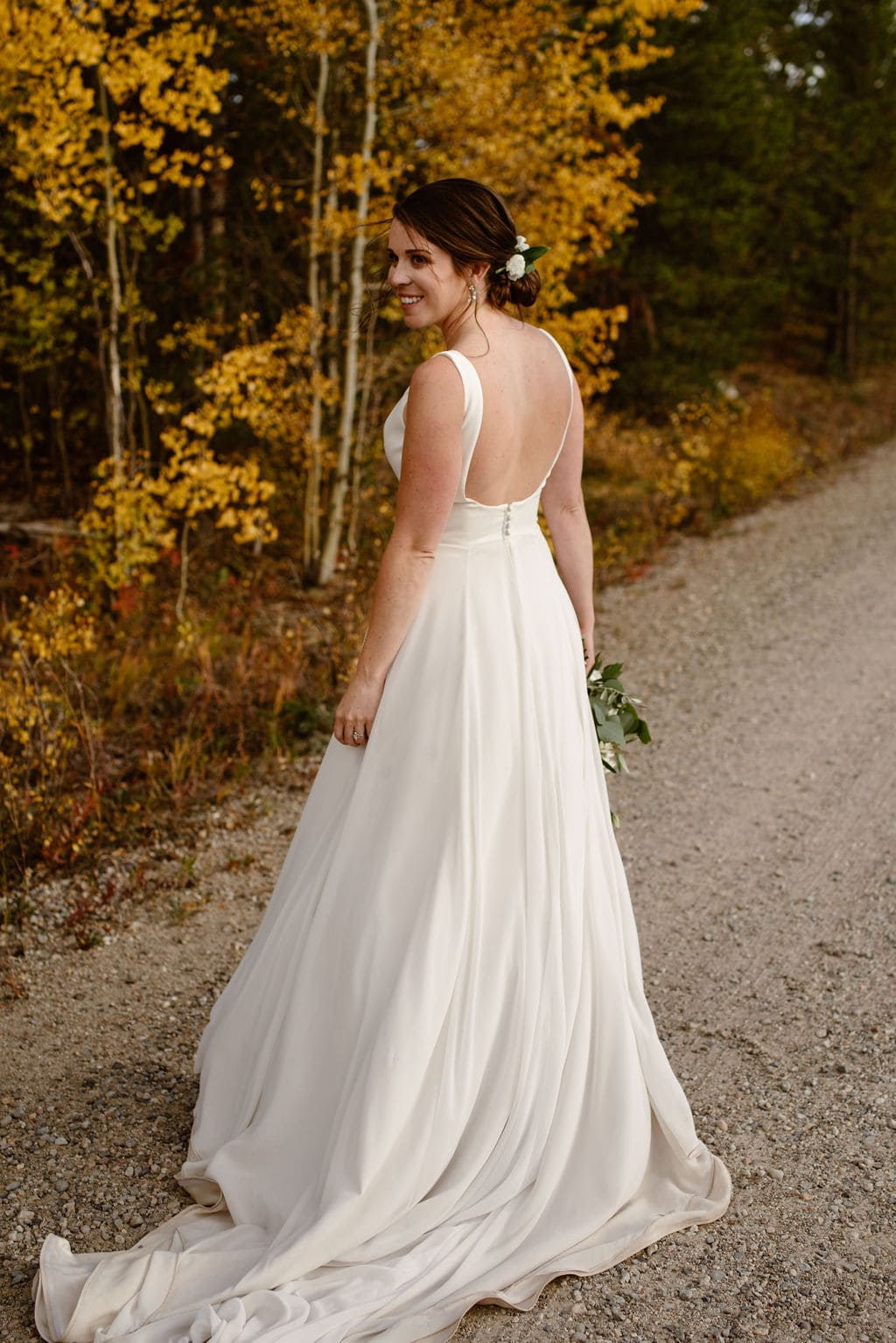 Bridal Portraits With Colorado Fall Colors