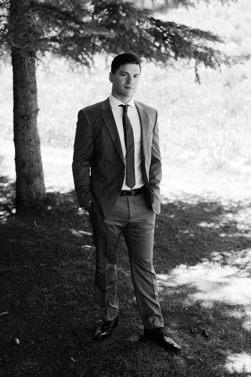Groom Portraits in Aspen Colorado