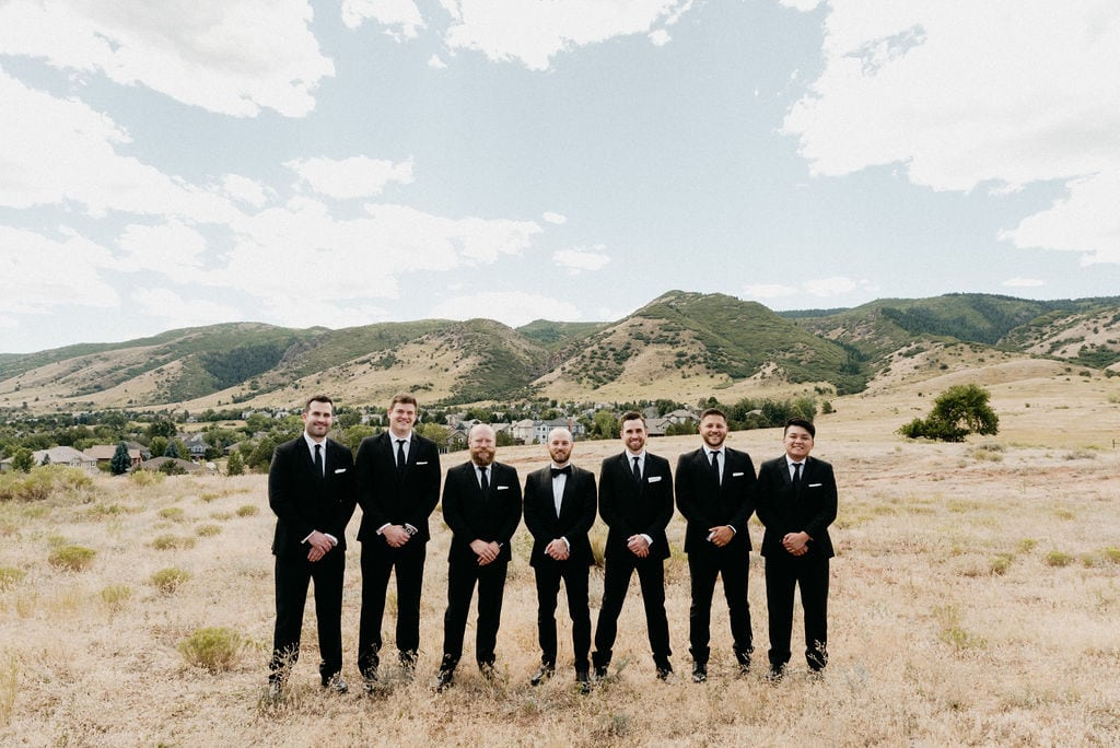 Groom and Groomsmen Mountain Wedding Photos