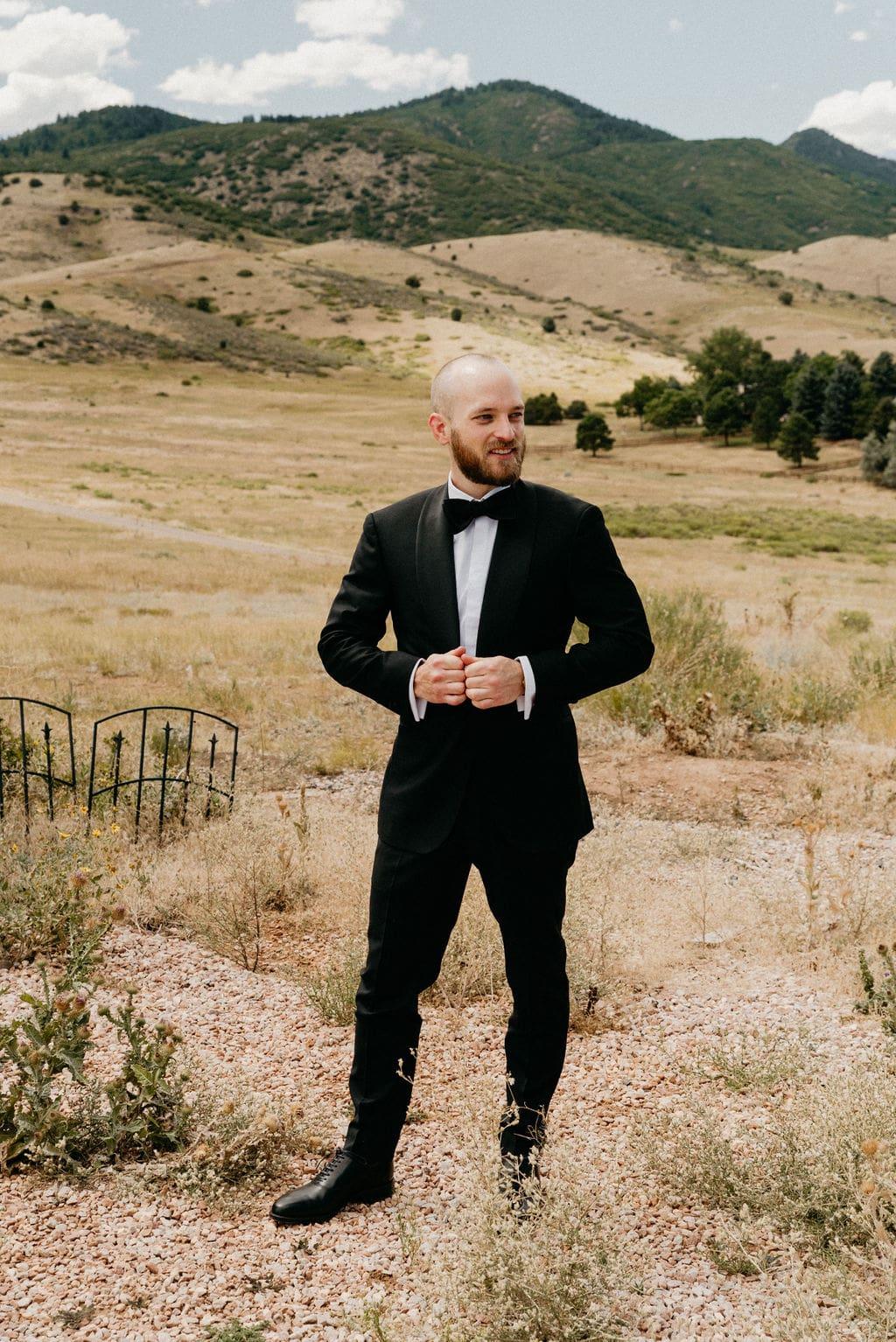 Groom Mountain Wedding Photos