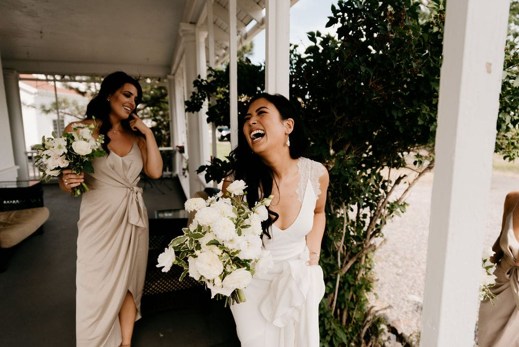 Happy Laughing Bride