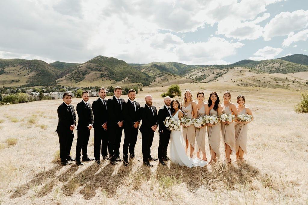 Bridal Party Portraits at Colorado Wedding Venue The Manor House