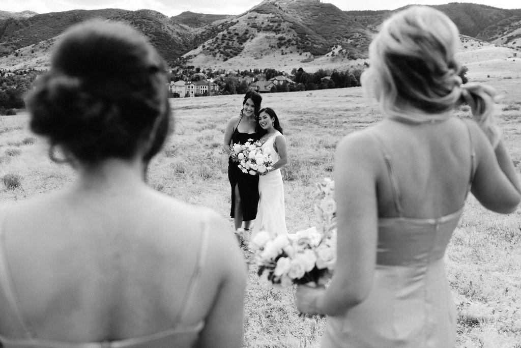 Bride and Bridesmaids at Colorado Wedding Venue The Manor House