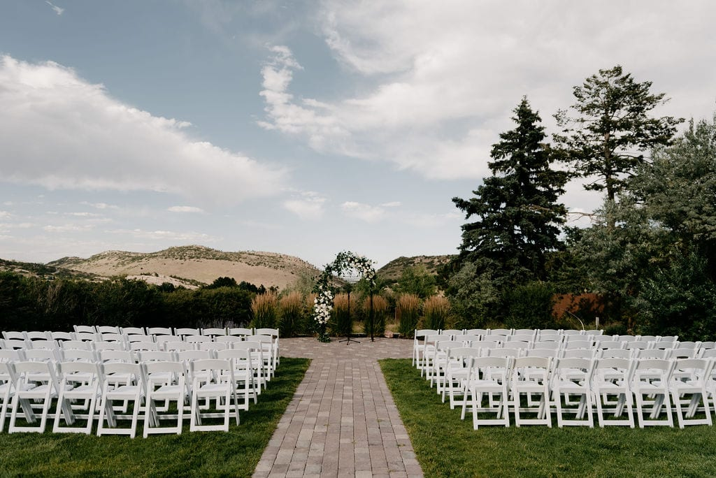 The Manor House Wedding Ceremony Set Up