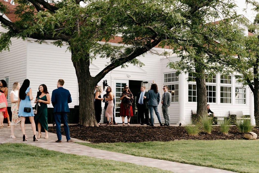 Guests at Colorado wedding ceremony