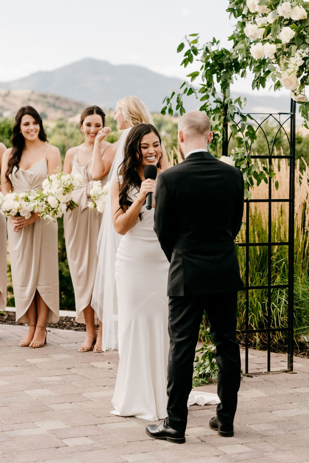 Wedding Ceremony at Best Denver Wedding Venue The Manor House