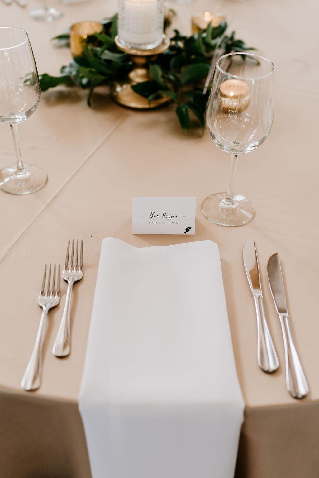 Wedding Reception Details at Colorado Mountain Wedding