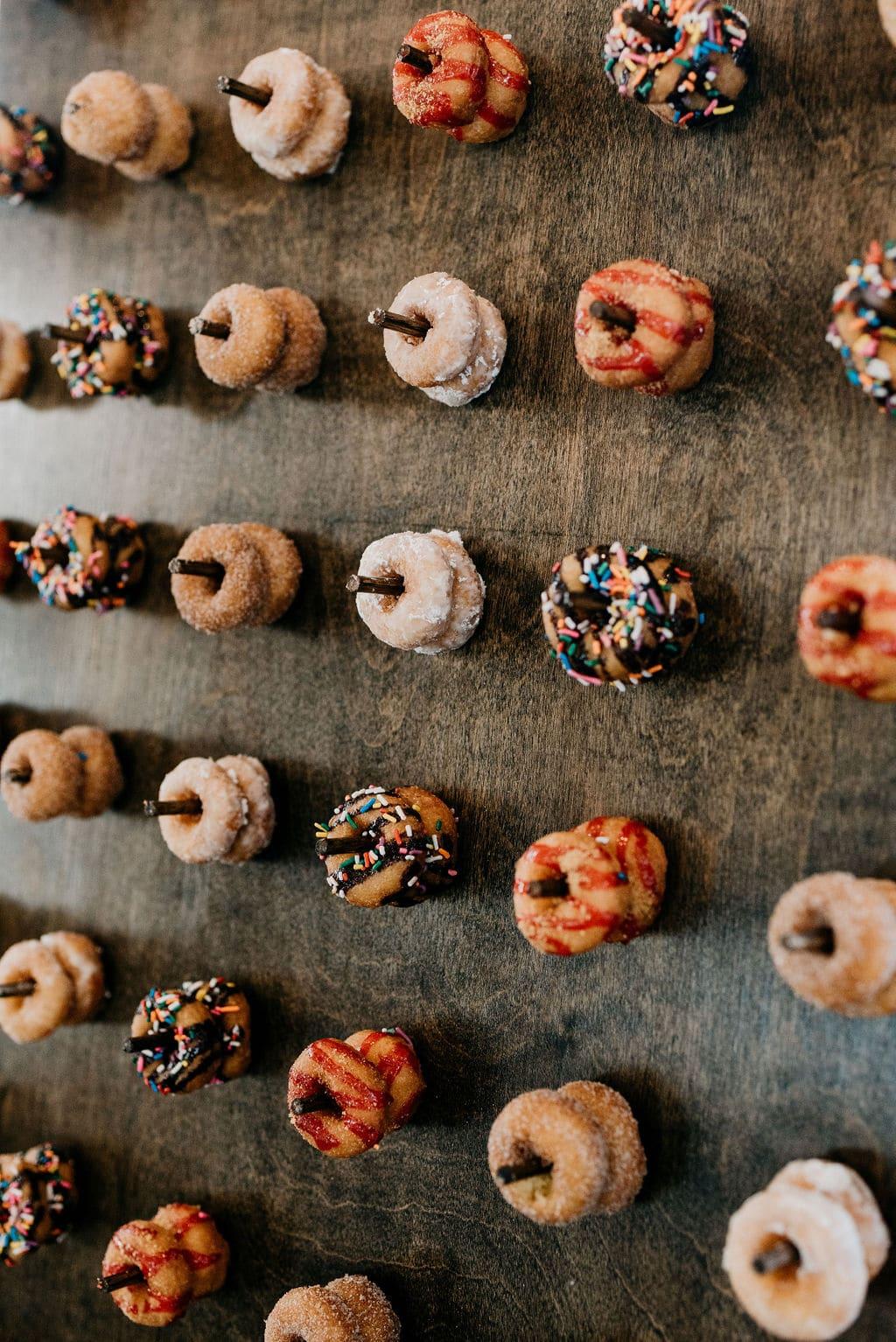 Donut wall at wedding Reception