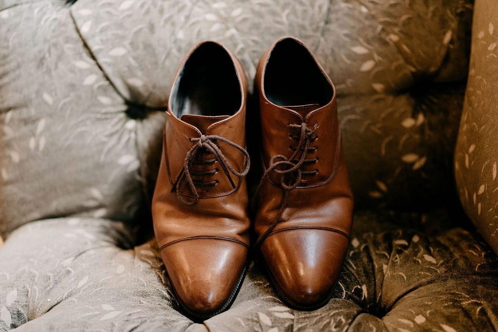 Grooms Shoes at Hickory Street wedding