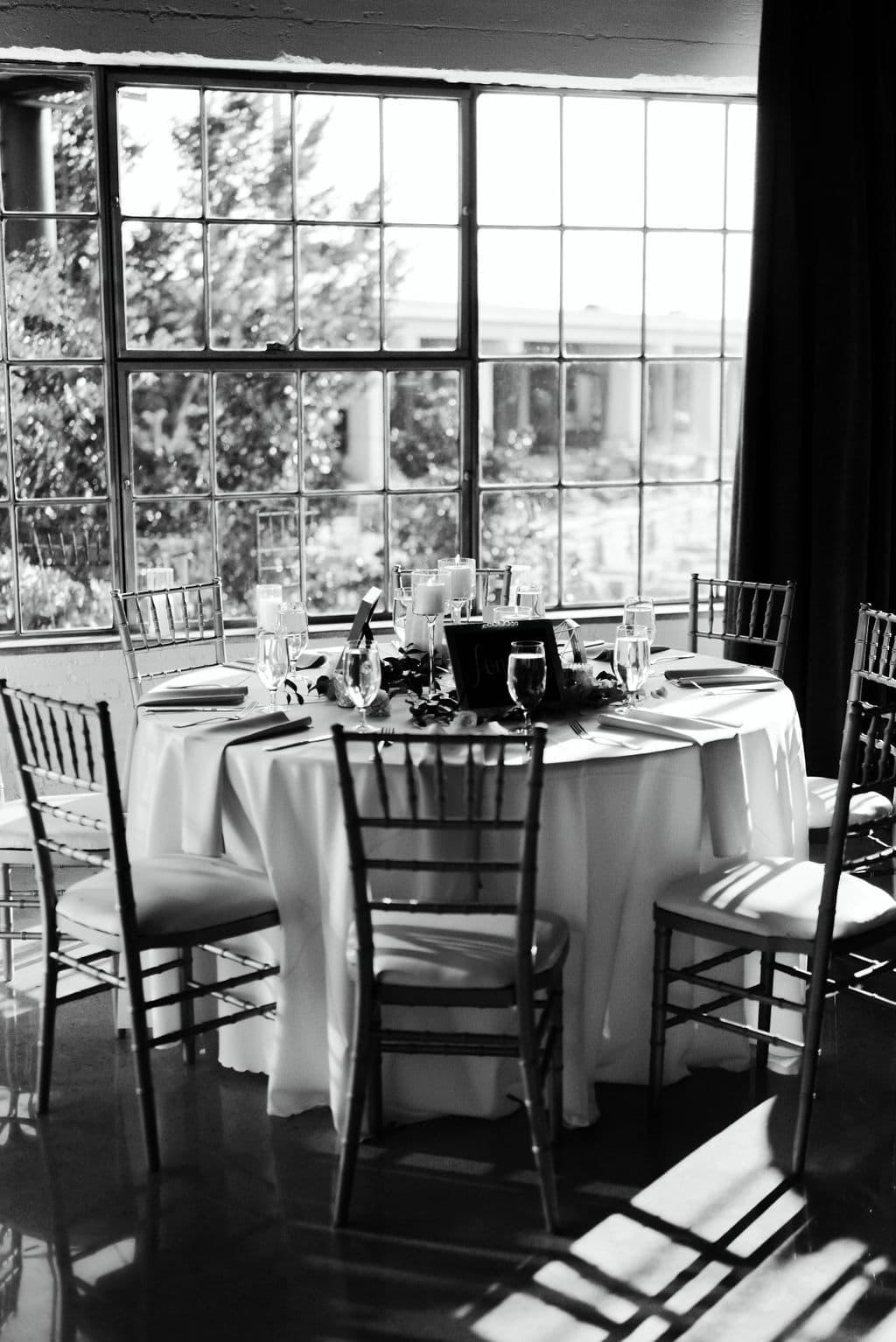 Hickory Street Annex Wedding Reception Set Up