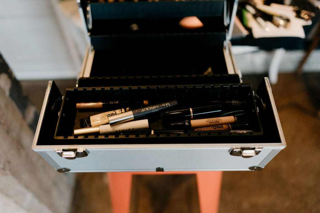 Makeup for getting the bride ready