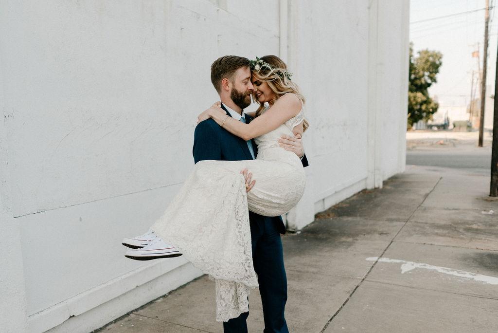 Romantic Downtown Dallas Wedding Portraits