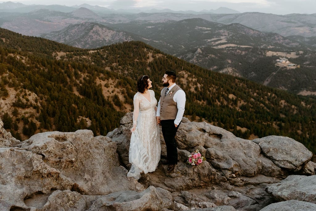 Elope in Boulder Colorado at Lost Gulch Overlook