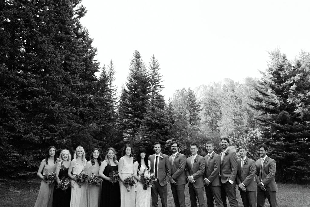 Bridal Party at Mountain View Ranch