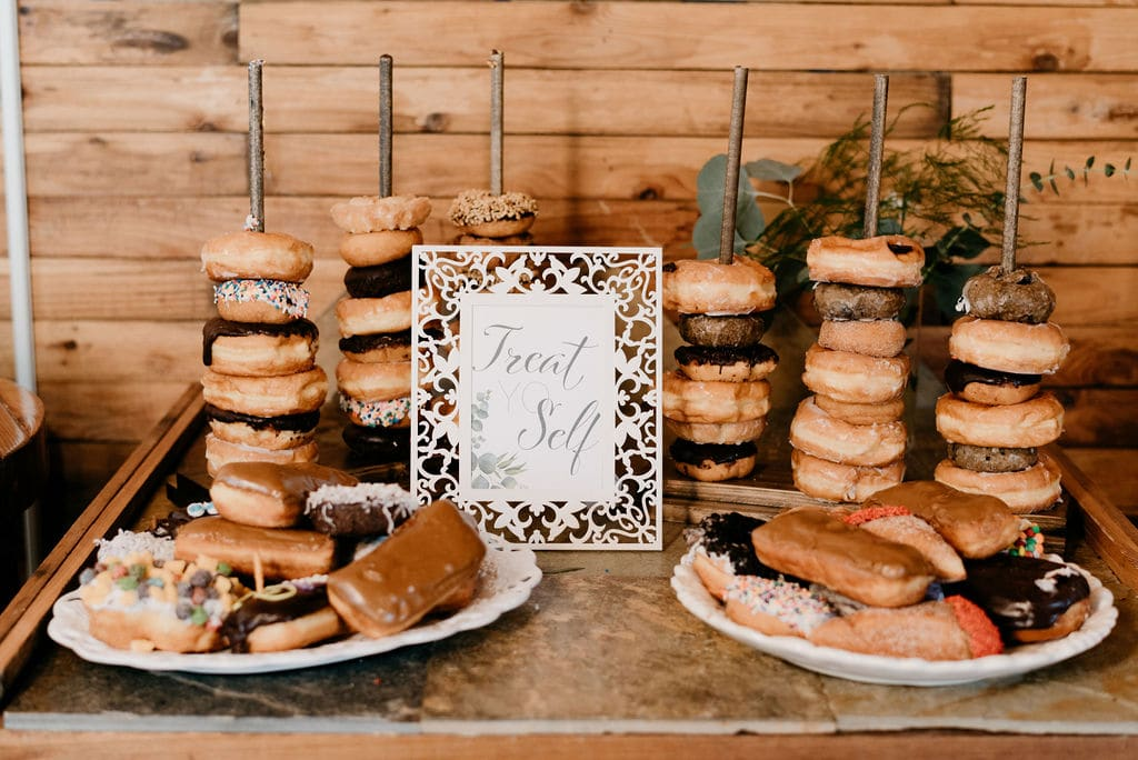 Donuts as desert for wedding