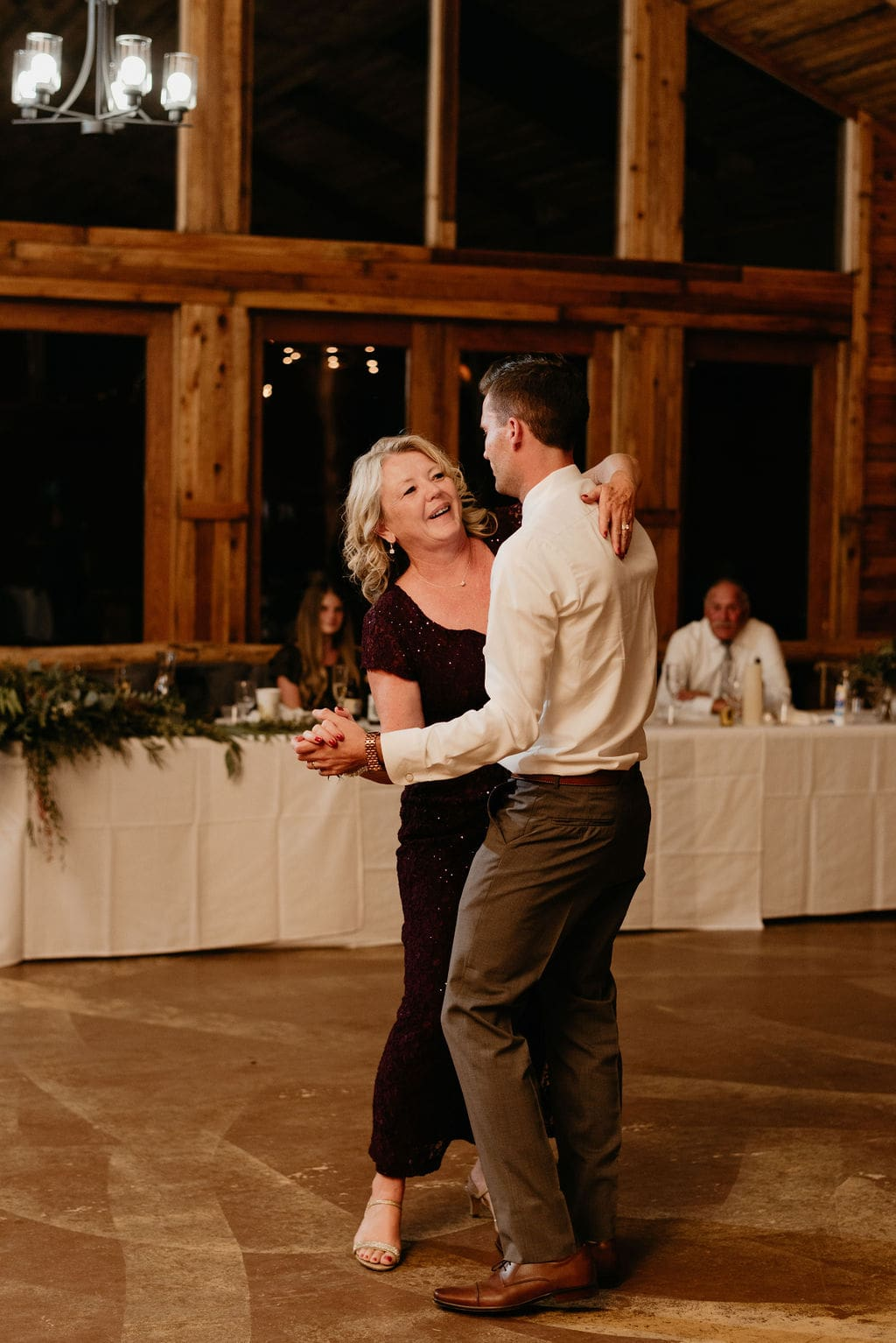 Mountain view ranch wedding reception