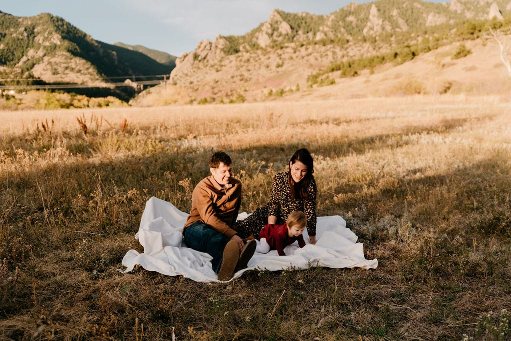 Boulder Family session at sunrise