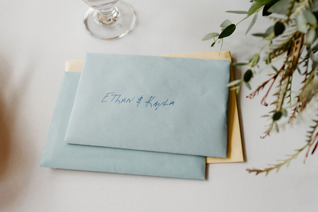 Cards for the bride and groom