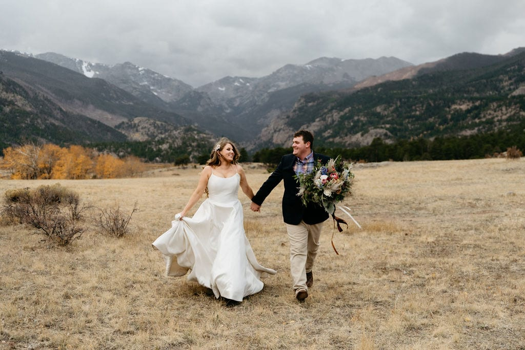 Moraine Park Wedding Portraits after Sprague Lake Elopement