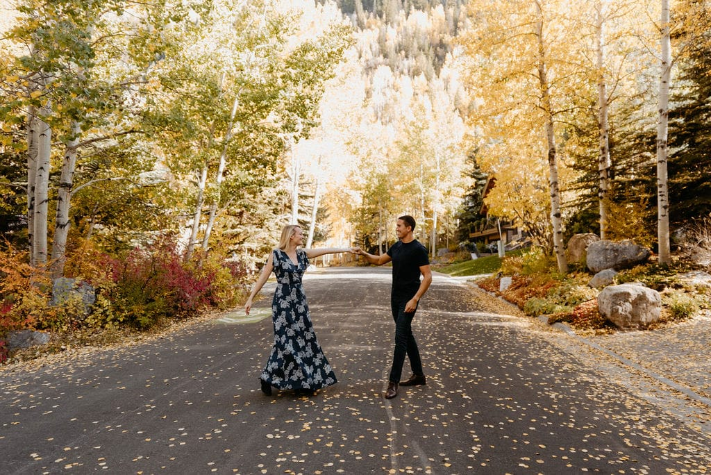 Vail Colorado Engagement Session in the Fall