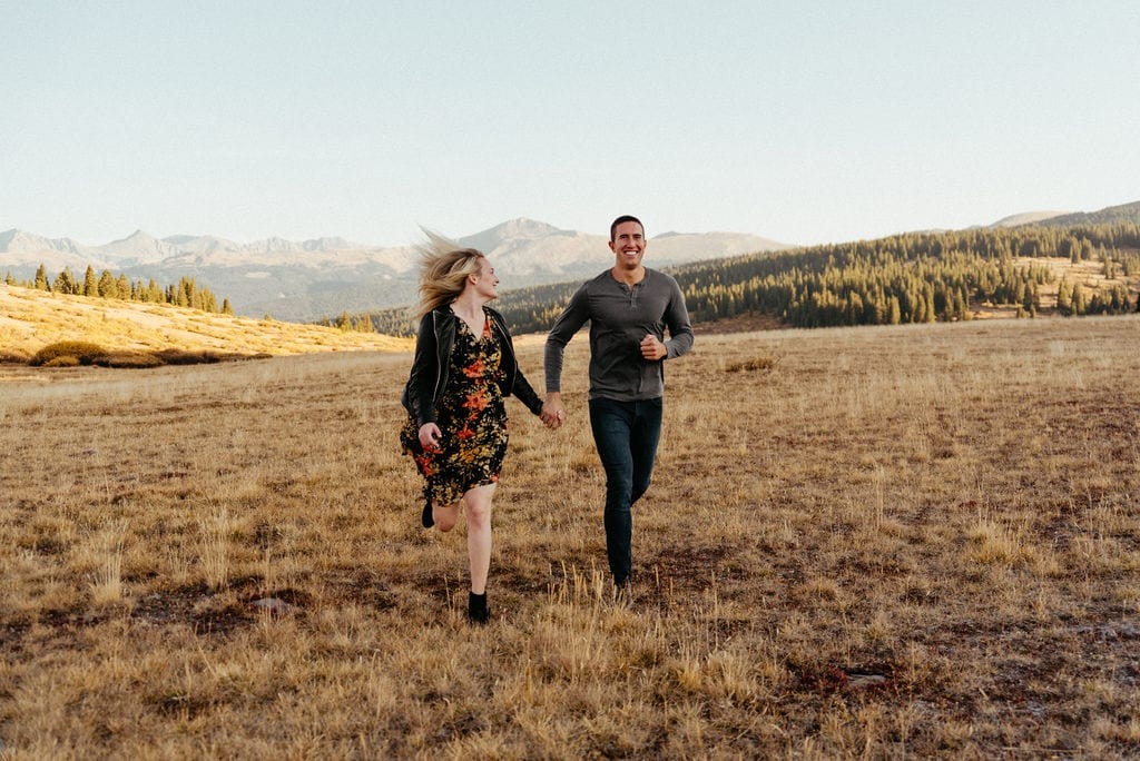 Vail Engagement Session on Shrine Pass