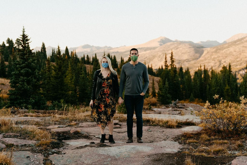 Pandemic Engagement Photos on Shrine Pass in Vail Colorado