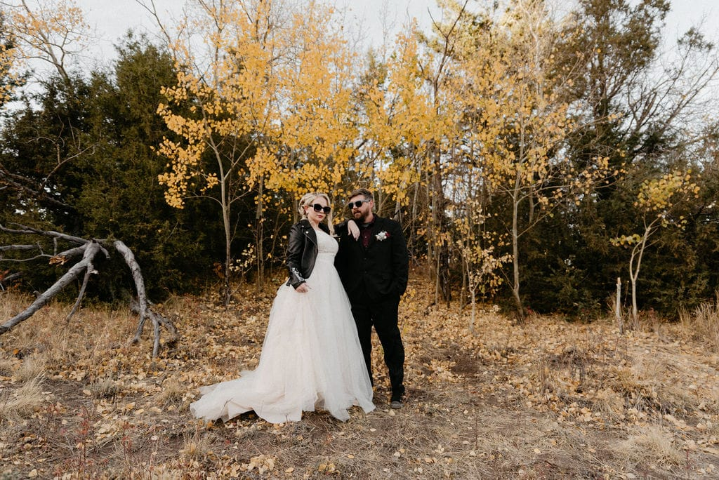 Wedding portraits done on Kruger rock trail in hermit park