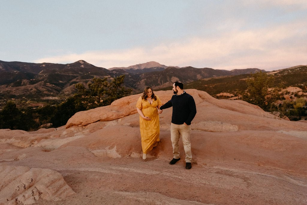Sunrise Maternity Session at Garden of the Gods