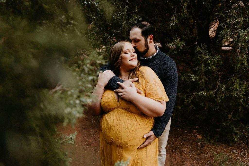 Garden of the gods couples maternity Session at Sunrise