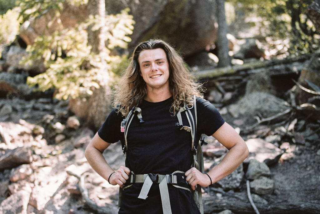 Eldorado Canyon State Park Hiker in Boulder