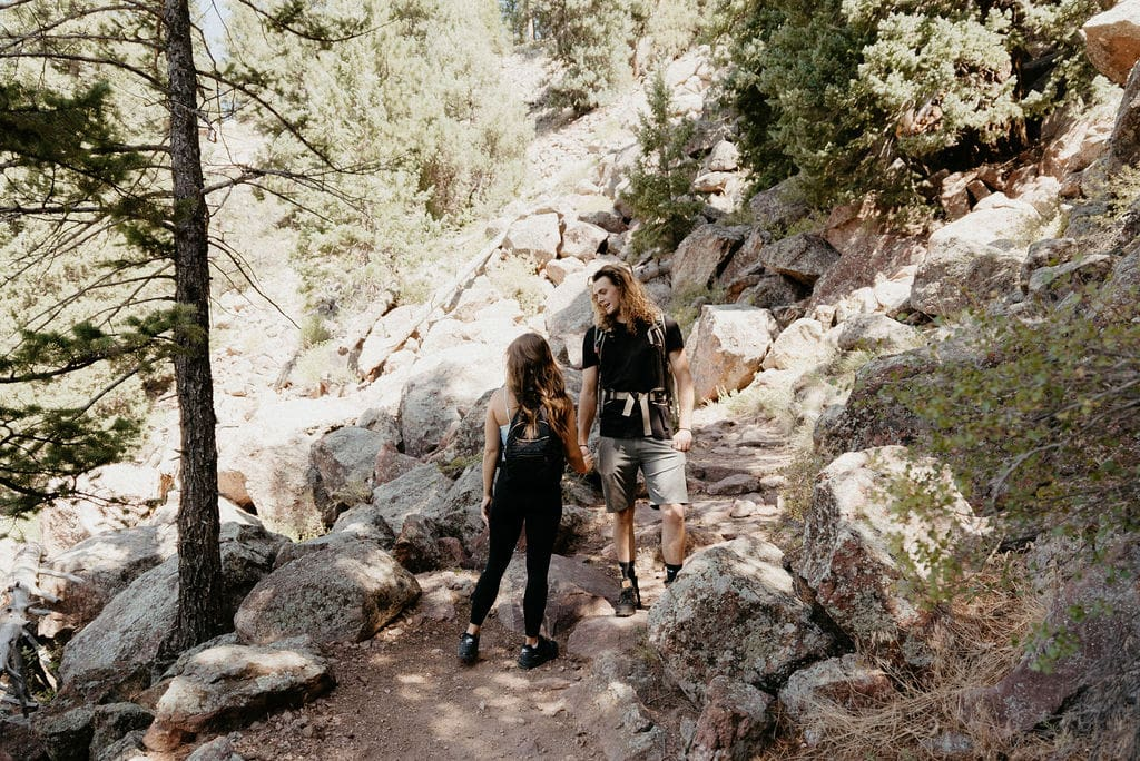 Eldorado Canyon State Park Hiking Engagement Session in Boulder