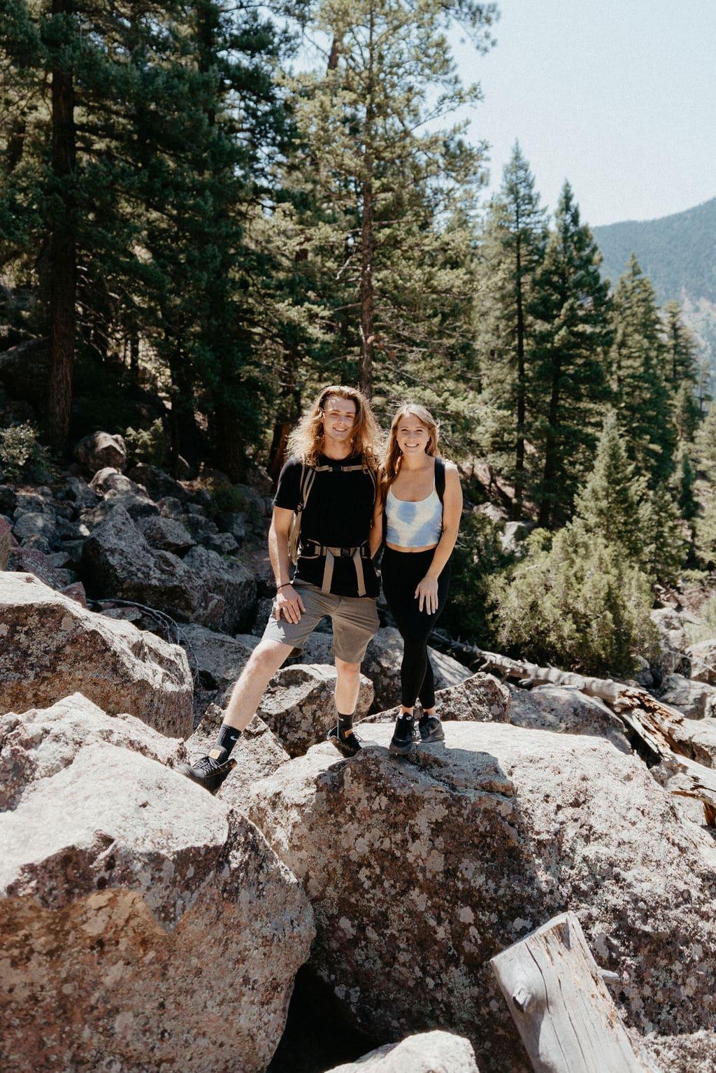 Eldorado Canyon State Park Hiking Couples Session in Boulder